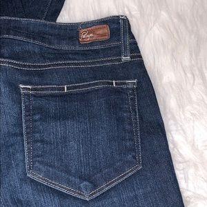 Paige dark, peg skinny jeans